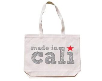 City Living Tote bag - Made In Cali - California - Market bag - Reusable bag - Canvas tote - Shopping bag - Shoulder bag - Organic