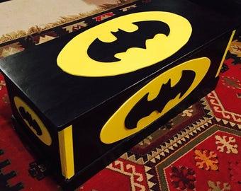 Batman - toy boxes - toy chest - batman decor - super heros - man cave - childrens toy boxes - toy storage - super hero decor