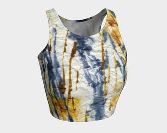 Crinkled Cattails' Crop Top