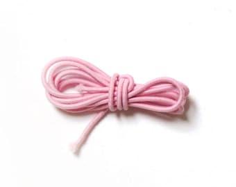 Round elastic, 2 mm, 1 m, light pink