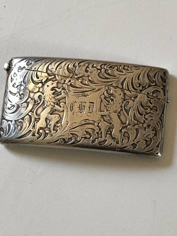 1890 Sterling Silver Dominick & Haff Calling Card Case