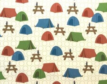 Kids American Vintage fabric - cotton - Robert Kaufman designer Laurie Wisbrun - Camp - by 50cm (110 x)