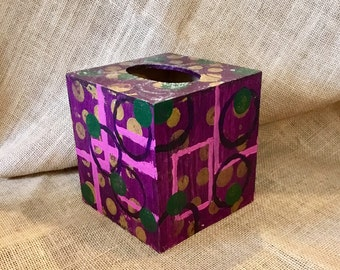 Acrylic wood tissue box