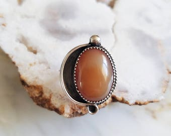 no. 645 - sterling silver and carnelian ring