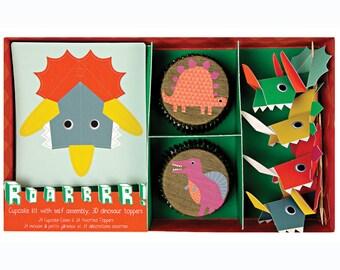 Pop-out Dinosaur Cupcake Kit