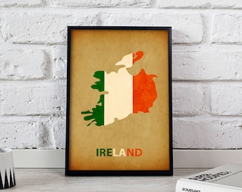 Ireland poster Ireland art Ireland Map poster Ireland print wall art Ireland wall decor Gift poster