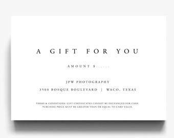 Gift Certificate Template, A Gift For You, Gift Voucher Template, Gift Certificate Printable, Gift Certificate Download, For Customers