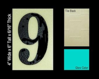 "No 9 Ceramic Tile House Number (4""w x 6""h)"