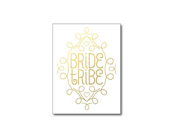 gold bride tribe tattoos metallic art deco temporary tattoos bridesmaid gifts bachelorette party favors fake tattoos gold foil tattoos tatoo