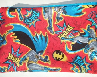 Bat Superhero Zipper Pouch: Comic Books, Superhero, Geekery.