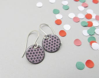 Lightweight Earrings for Everyday Wear - Enamel Jewelry with Sterling Silver Earwires - Gift for Sister