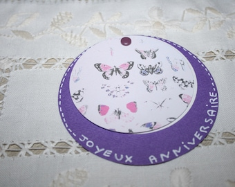 round card opening to see the text