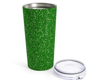 Green Glitter Printed Tumbler 20Oz