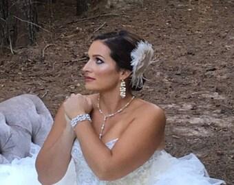 Bridal Headpiece, Bridal Hairpiece, Gatsby Style Headpiece, Fascinate, Wedding Headpiece, Wedding Hair Accessory,  Wedding Hair Clip