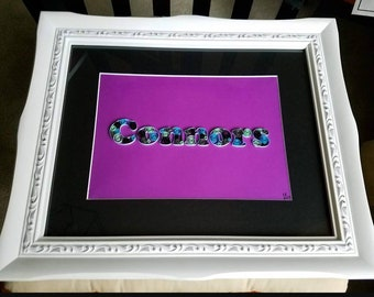 Custom Quilled name * You choose your colors!
