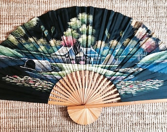 Chinese fan | Chinese art | Eclectic deco | Vintage home deco