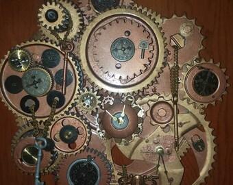 Steampunk Collage Gear Clock