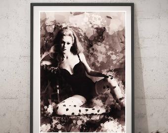 Edie Sedgwick poster, Printable wall art, Edie Sedgwick home decor, Edie Sedgwick instant download, Edie Sedgwick vintage poster, Painting