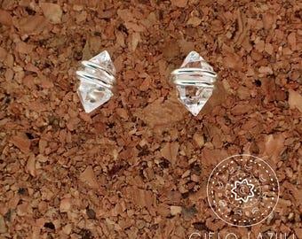 Herkimer Diamond Earrings - Tiny