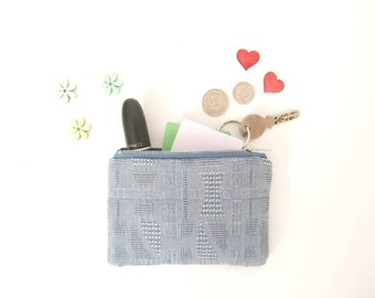 Upcycled coin purse, coin purse, zipper pouch, change purse,coin wallet, upcycling, eco-friendly