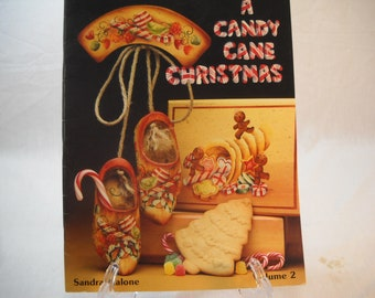 A Candy Cane Christmas By Sandra Malone Decorative Painting Booklet Free Shipping