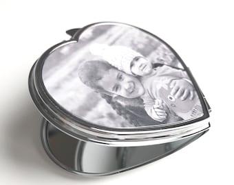 Personalised (Any Photo or Text) Handbag Mirror