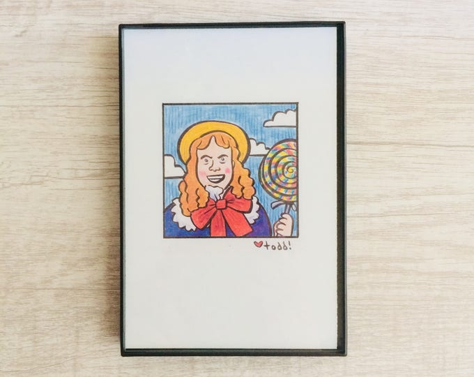 Zoolander, 4 x 6 inch Print, Mugatu, Art, Crayon Drawing, Movies, Pop Culture, Wall Decor, Will Ferrell