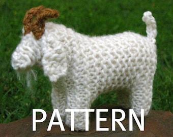 Goat Knitting Pattern (PDF), Instant Digital Download