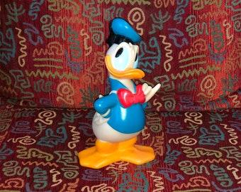 Vintage Donald Duck Piggy Bank/Coin Bank-Walt Disney-No Plug-Plastic/Rubber