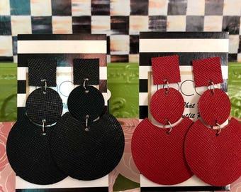 Mod Style Drop Earrings