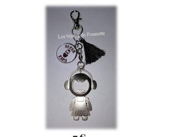 Mens metal bottle opener key chain