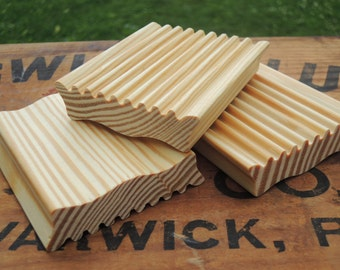 SIMPLE SOAP DISH - A natural wooden soap-saver - Love your soap, use a dish, waste less, enjoy more, it's simple