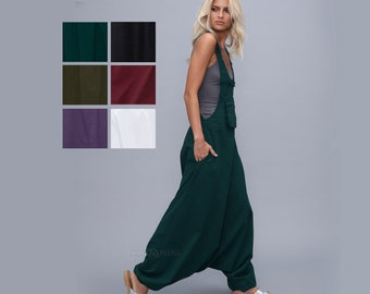 Harem pants jumpsuit - Overalls - Women - loose jumpsuit - dungarees