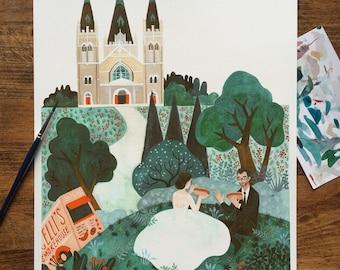 11x14 Custom Couple/Family Illustration