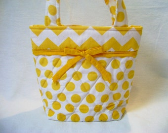 Yellow Quilted Tote