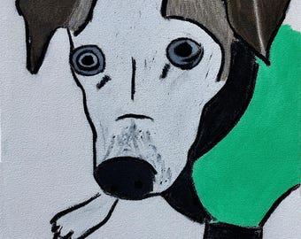 Custom Dog Portrait paintings