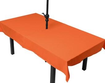 Tablecloth orange meets (umbrella)