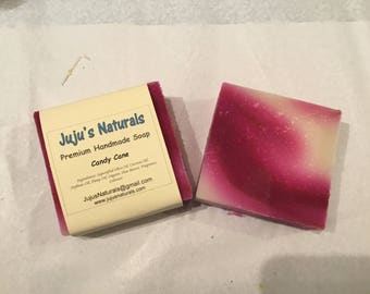 Candy Cane - Handmade Soap