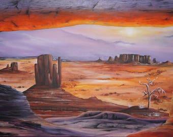 Sandra, Grand Canyon USA travel painting