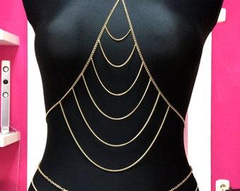 Body Chain Bra Gold Lolita choise your own size