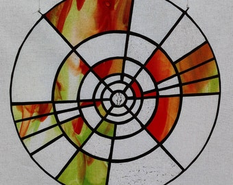 Geometric Stained Glass Suncatcher
