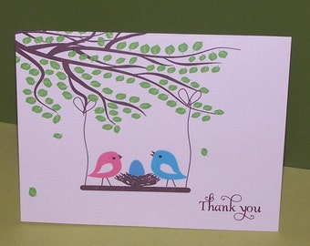 Baby Stationery, Baby thank you notes (set of 10)