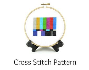 Television Test Pattern Screen Cross Stitch Pattern