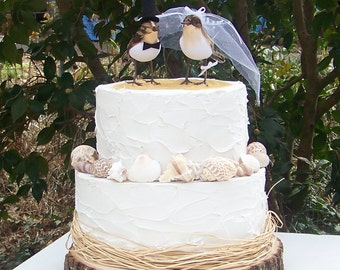 Beach Cake Topper, Sandpipers Bird Cake Topper, Weddings, Bride and Groom Sandpipers