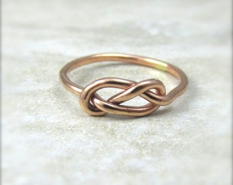 Rose Gold Knot Ring / Rose Gold Filled Infinity Ring / Mother Daughter / Bridesmaids Gift / Tie the Knot Ring / Wedding Sale