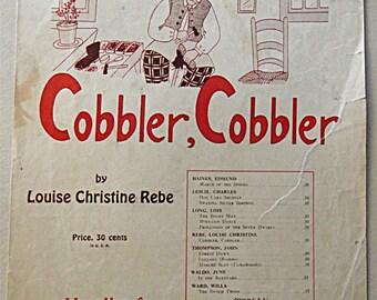 1936 Antique Sheet Music: John Thompson's Student's Series COBBLER, COBBLER