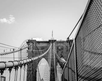 Black and White Photography of the Brooklyn Bridge