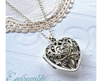 Sterling Silver Vintage Heart Locket