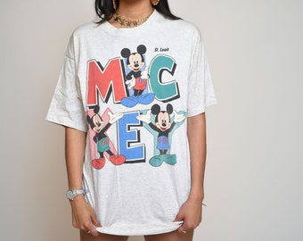 Rare Mickey Mouse Colorful St Louis Disney Shirt by Sherry Mtg