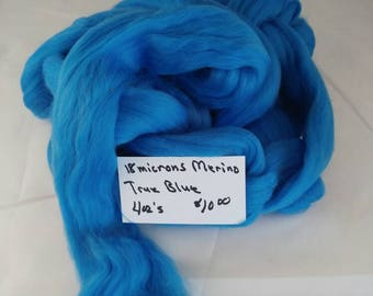 18 micron Merino Top True blue